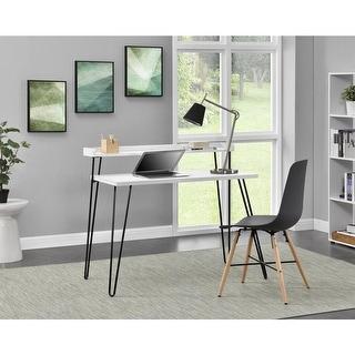Link to Carson Carrington Hudiksvall Retro Desk with Riser Similar Items in Desks & Computer Tables