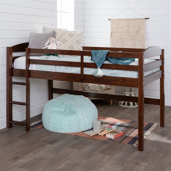 Taylor & Olive Christian Low Loft Twin Bed with Ladder. Opens flyout.
