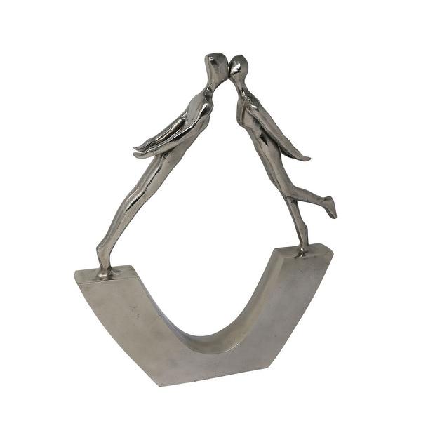 Aluminium Statue of Kissing Couple, Silver