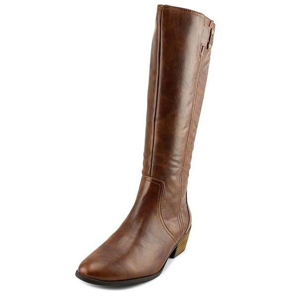 Dr. Scholl's Brilliance Round Toe Leather Knee High Boot