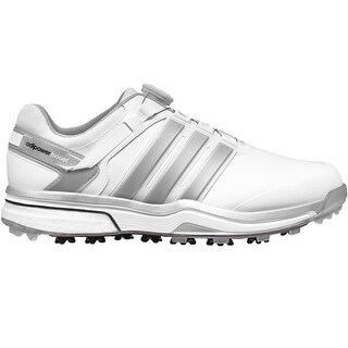 Adidas Men's Adipower Boost Boa Running White/Dark Sliver Metallic Golf Shoes Q44621