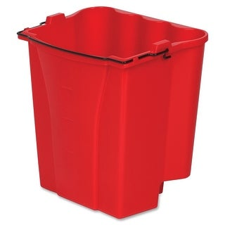 Rubbermaid 9C74-00-RED Wavebreak Dirty Water Pail Insert, 18-Quart, Red