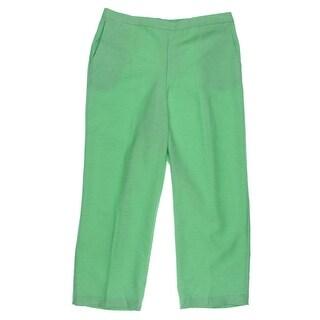Alfred Dunner Womens Petites Dress Pants Heathered Slub