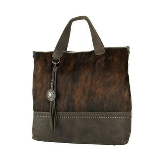 Link to Montana West Delila Brown Hair-On Hide Genuine Leather Shoulder Tote Bag Similar Items in Shop By Style
