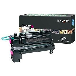Lexmark C792A4MG Lexmark C792A4MG Toner Cartridge - Magenta - Laser - 6000 Page - 1 Pack