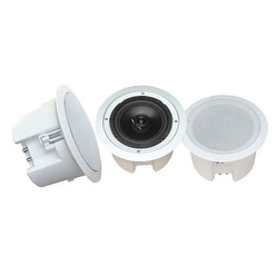 In-Wall / In-Ceiling 8'' Dual Enclosed Speaker System, Directable Tweeter, Flush Mount, 250 Watt