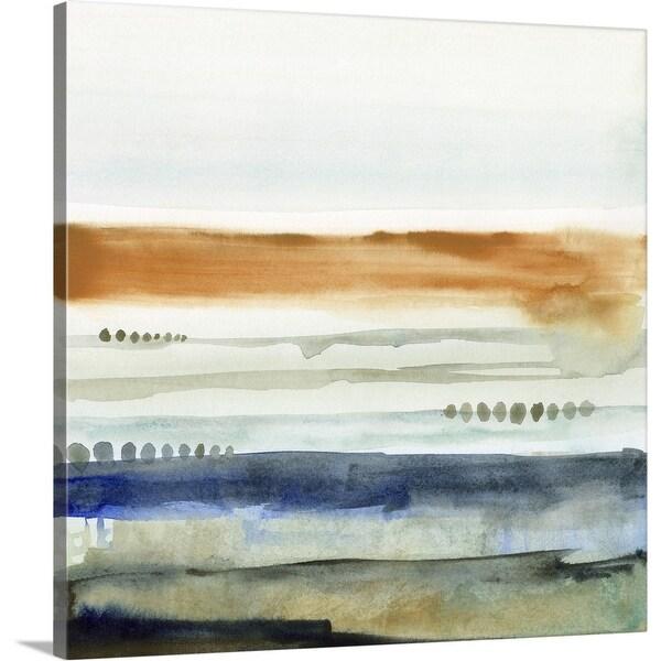 """Sunwashed Strata I"" Canvas Wall Art"
