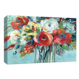 "PTM Images 9-148165  PTM Canvas Collection 8"" x 10"" - ""Perfectly Arranged I"" Giclee Flowers Art Print on Canvas"
