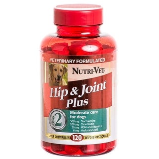 Nutri-Vet Hip & Joint Chewables for Dogs - Extra Strength 120 Count