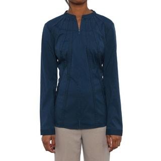 Lafayette 148 New York Long Sleeve High Neck Blouse Women Regular Blouse