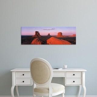 Easy Art Prints Panoramic Images's 'Monument Valley at Dusk UT & AZ USA' Premium Canvas Art