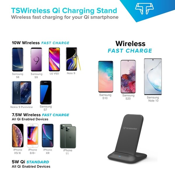 Shop Techsmarter Fast Charging Wireless Charger Stand Dock
