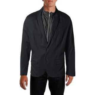 Kenneth Cole Reaction Mens Notch Collar Lined Jacket