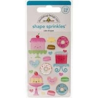 Doodlebug Sprinkles Adhesive Glossy Enamel Shapes-Cream & Sugar Cake Shoppe