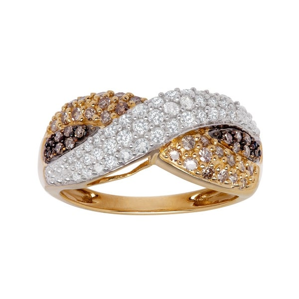 3/4 ct Multi-Color Diamond Ring in 14K Gold