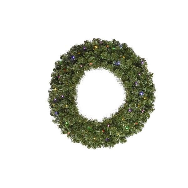 "36"" Pre-Lit Double-Sided Grand Teton Artificial Christmas Wreath - Multi LED"