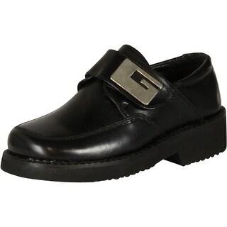 Marrone Boys 70420 Strap European Shoes - Black Suede - 8.5 m us toddler