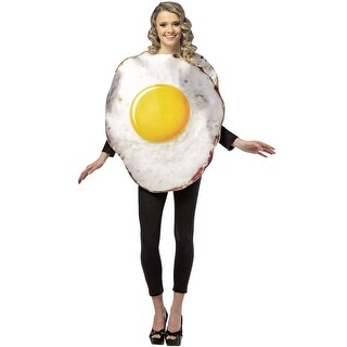 Rasta Imposta Get Real Fried Egg Adult Costume - Solid - one-size