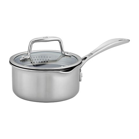 ZWILLING Clad CFX Stainless Steel Ceramic Nonstick Saucepan - Stainless Steel