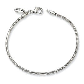 Sterling Silver Reflections Kids Bead Bracelet (2mm) - 6.25""