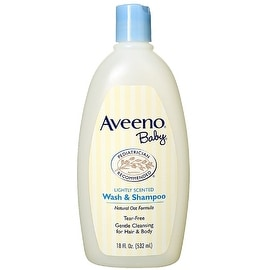 AVEENO Baby Wash & Shampoo, Lightly Scented 18 oz