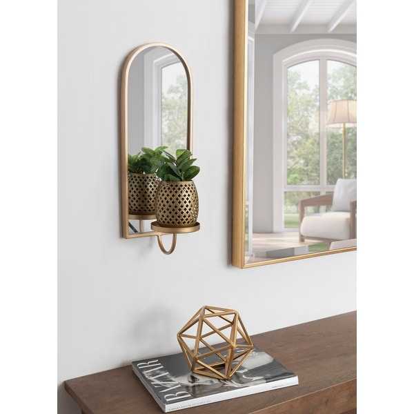 Kate and Laurel Ezerin Metal Mirror Wall Sconce - 6x5x16. Opens flyout.
