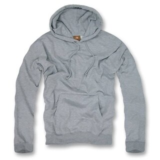 Men's Basic hooded pull over (3 Colors) (Large, Heather Grey)