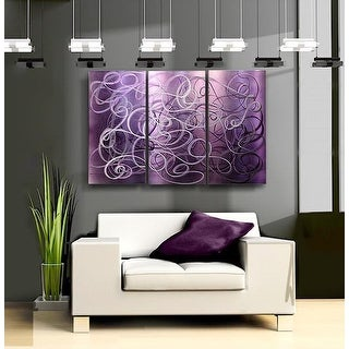 Statements2000 Purple Abstract Etched Metal Wall Art Panels by Jon Allen - Confused Passion