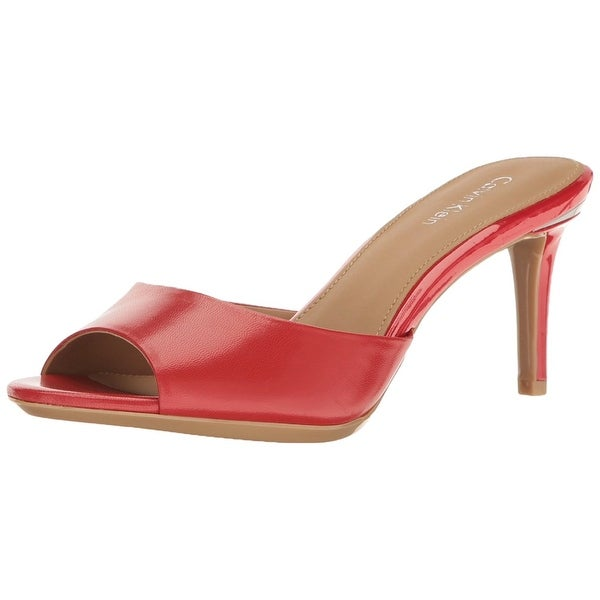 Calvin Klein Womens Luc Open Toe Special Occasion Slide Sandals
