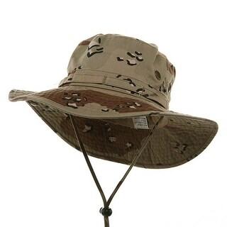 Washed Hunting Fishing Outdoor Hat-Desert Large - Desert