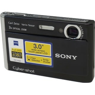 Sony Cyber-shot DSC-T70/B - Digital camera - compact - 8.1 Mpix - (Refurbished)