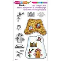 "Cottage Home - Stampendous Clear Stamp & Dies 5""X7"""