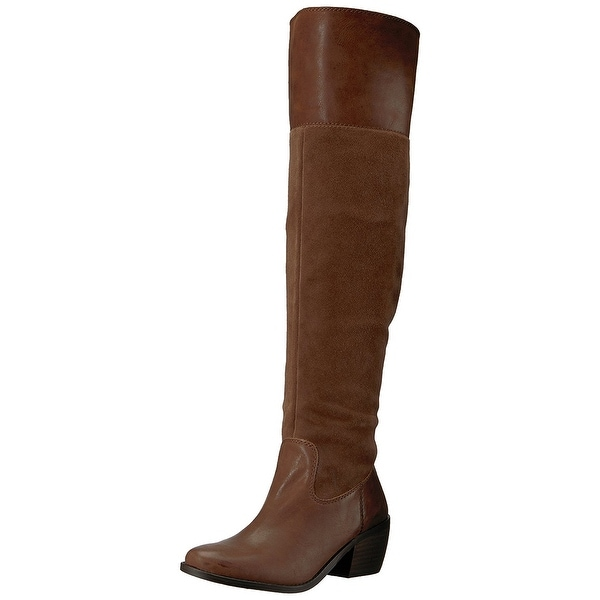 Lucky Brand Womens Komah Leather Almond Toe Over Knee Fashion Boots - 7.5