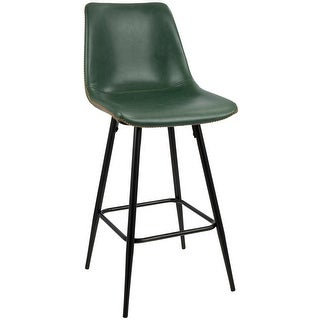 Carson Carrington Vadaby 26-inch Vintage Faux Leather Counter Stool (Set of 2)