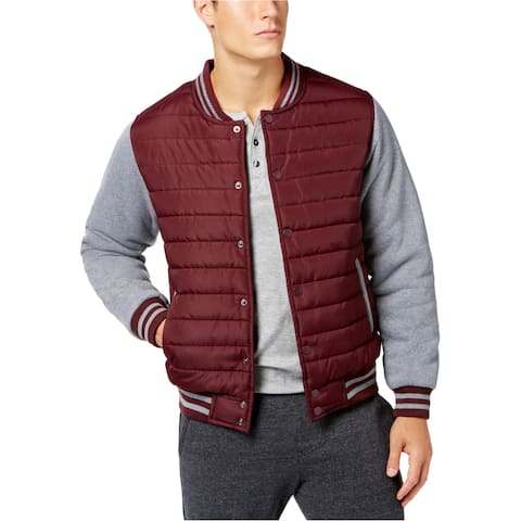 Ring Of Fire Mens Baseball Quilted Jacket