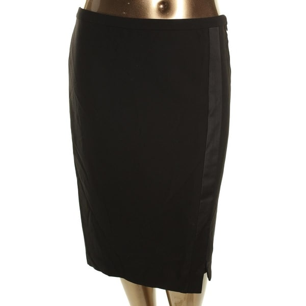Lauren Ralph Lauren Womens Pencil Skirt Crepe Asymmetric