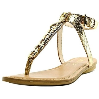 Guess Gurri Women Open-Toe Synthetic Gold Slingback Sandal