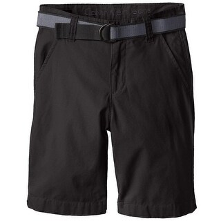 Calvin Klein Kids Boys 8-20 Belted Flat Front Short - Black (2 options available)