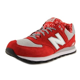 New Balance ML574 Men  Round Toe Leather Red Sneakers