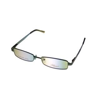 Apple Bottoms Womens Opthalmic Eyeglass Rectangle Metal 708 3 Blue - Medium