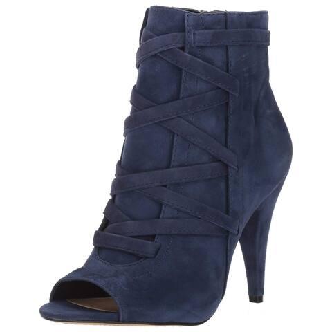 Vince Camuto Womens Aranda Leather Peep Toe Ankle Fashion Boots
