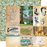 "Gone Camping Double-Sided Cardstock 12""X12""-Journaling Cards"