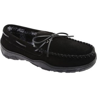 Clarks Men's Moccasin Slipper Black Cow Suede
