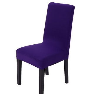 Spandex Stretch Washable Dining Chair Cover Protector Seat Slipcover Dark Purple