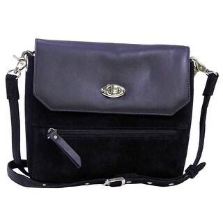 Gun Toten Mamas Suede Clutch with Cowhide Flap (Option: Yellow)