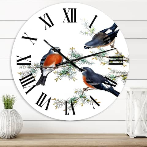 Designart 'Vinage Countryside Animals V' Farmhouse wall clock