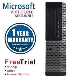 Refurbished Dell OptiPlex 790 Desktop Intel Core I3 2100 3.1G 4G DDR3 250G DVD Win 7 Pro 64 Bits 1 Year Warranty