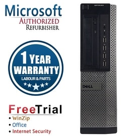 Refurbished Dell OptiPlex 790 Desktop Intel Core I3 2100 3.1G 8G DDR3 1TB DVD Win 7 Pro 64 Bits 1 Year Warranty