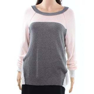 Rebecca Taylor NEW Pink Womens Size Large L Knitted Colorblock Sweater