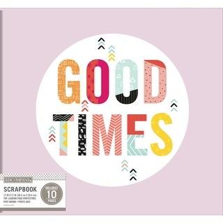 "K&Company Phrase Post Bound Album 12""X12""-Good Times"